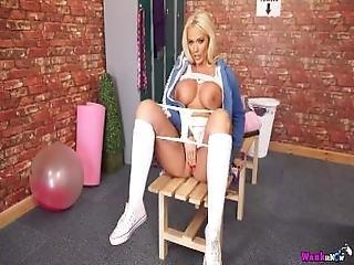 Lucy Zara Masturbates Her Wet Pussy With Her White Panties%21