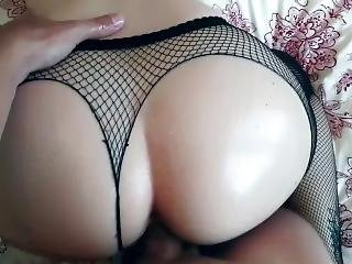 Pov Oiled Up Doggy In Fishnet Till Creampie