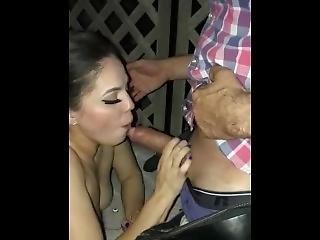 Pretty Latina Sucking A Big Cock In A Hot Tub