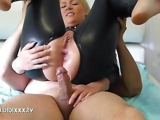 crème, serrée, allemande, latex, chatte, sexe