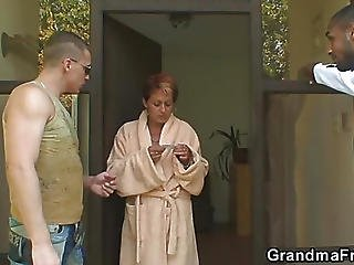 Interracial Fuck With Hot Grandma