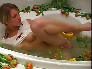 Girl Solo In Bathtub