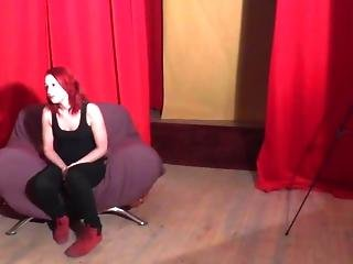 Czech Redhead Has Fun In The Backstage
