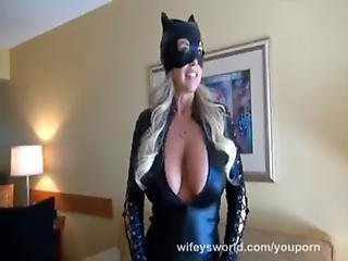 Youporn - Busty Cat Woman Gets Fucked And Swallows Cum
