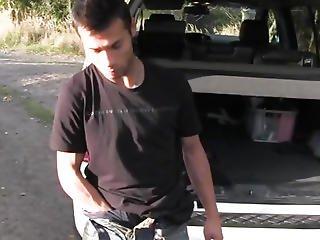 Solo Ethnic Twink Wanking His Ramrod In Car