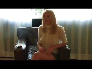 Hot Blonde Smoking (js)