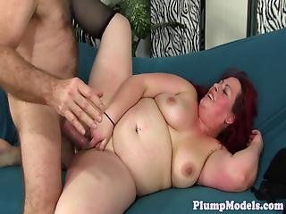Chubby Redhead Pussy Fucked From Behind