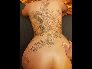 Close Up Doggy On A Tatted Bitch