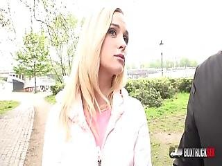 Playful Blonde Crystal Caytlin Likes Sex In Public