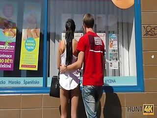 It Was A Hot Summer Day And A Sexy Girl In Tiny Shorts Caught My Attention She Was Standing With Her Boyfriend Close To The Travel Agency