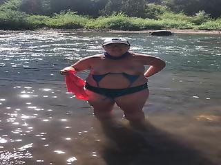 Getting Topless In The River