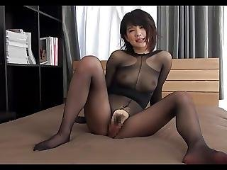 Japanese Babe Shirosaki In Body Stockings