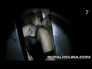 Two Girls Sucking And Fucking Many Cocks At A Gloryhole