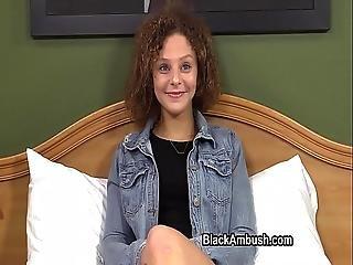 Cute Teen Ambushed By Black Cock