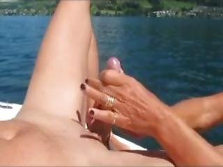 She Does Not Want To Fuck Me But Enjoys To Film My Cum Fountain