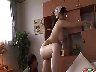 Busty Milf Rie Tachikawa Tries Young Cock In Her Furry Pussy - More At Japanese
