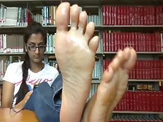 뚱보, 흑단, 피트, 발, 코키, 인도의, 섹시한