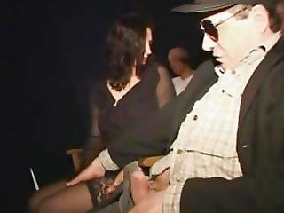 Perverted Notary Take Busty Widow To The Adult Cinema