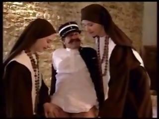 amatõr, híresség, apáca, egyenruha, régies