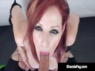 Busty Pussy Pucker Shanda Fay Mouth Pucks A Hockey Cock For That Cum