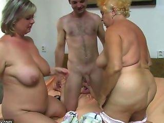 Nude bent over rough