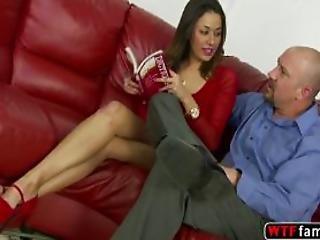 Slim Wild Bitch Teen Gigi Loren Likes Screwing Her Stepdad Giant Cock