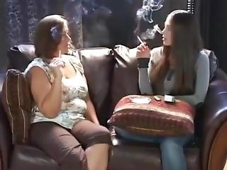 Young And Old Women Smoking