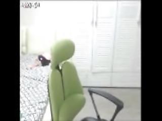 amatør, asiatisk, koreansk, onanering, erting, Tenåring, webcam