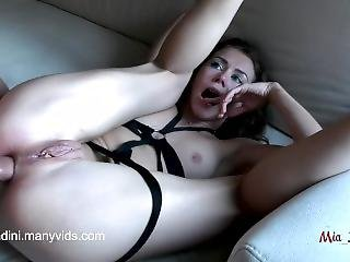 Real Female Orgasm And Passionate Fuck With Anal, Cum In Mouth. Mia Bandini