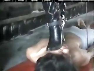Asian Domina Trampling Boots