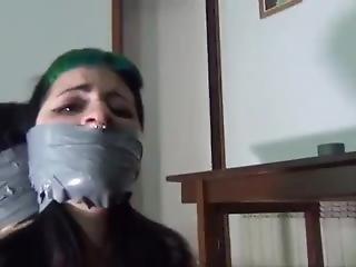 фетиш, с кляпом во рту, лесбиянка, связанный