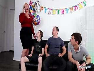 Milf Mom Seleh Rain From Family Lust Gets Fucked By 3 Horny Young Boys