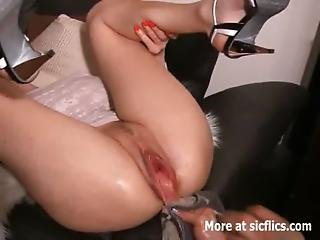 Amateur, Bottle, Brutal, Champagne, Dildo, Extreme, Fetish, Fisting, Fucking, Gaping Hole, Insertion, Milf, Pussy