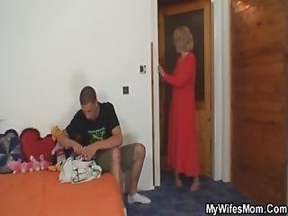 He Is Forced To Fuck Old Mother Inlaw