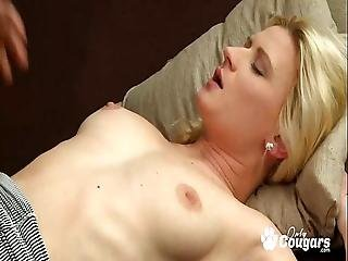 Petite Blonde European Rides Some Big Cock Doggy Style