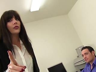 Wankz Romeo Is Clowning Around In His Office When In Steps In His Hot Ass Boss Samantha Bentley Romeo Spins Her Around Grabs Her Hair And Pounds That Big Pale Ass Repeatedly