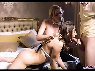 Walking In On His Girlfriend And Big Tit Blonde Stepmom