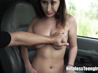 Tied Teen Fucked Rough In The Van