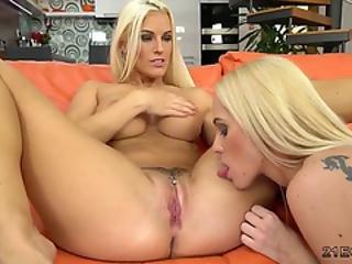 Two clit pierced lesbians having sex