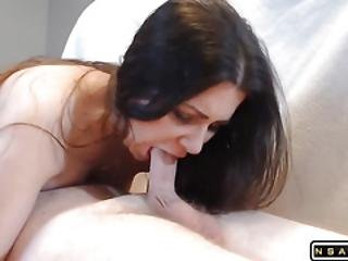 Oops The Cum Dripped Out Close Up 69 Blowjob No Hands With Cum In Mouth