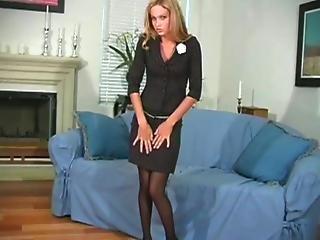 Black, Cameltoe, Closeup, Fetish, Masturbation, Nylon, Panties, Pantyhose, Sexy, Stocking, Stripping