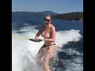 Chelsea Handler Water Skiing Topless