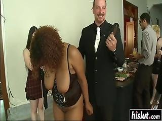 Maestro Stefanos And Other Girls Have To Suck And Fuck With Naughty Guys