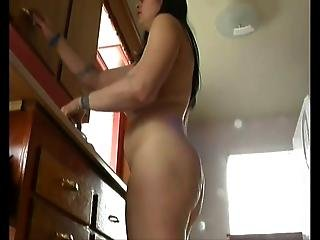 Hairy Chubby And Busty Cleans The Kitchen