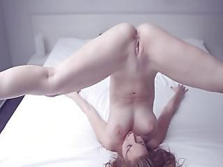 konst, bröst, brunett, tjeckisk, naken, fitta, solo