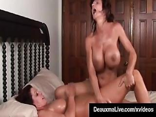 Busty Milf Deauxma Squirts In Magdelaine St.michaels Mouth