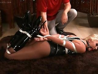 Gigi Allens Bound And Gagged In Latex