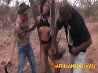 africain, amateur, bdsm, black, poitrine généreuse, cul, ébène, extérieur, petite, publique, chatte, esclave, torture, fouet