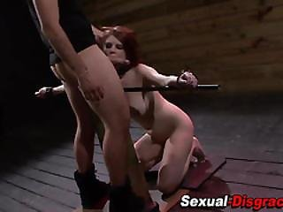 Slaves Throat Fucked Hard