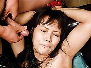 Bondage, Rondbostig, Sperma, Invoeging, Milf, Kreunen, Mam, Geoiled, Sex, Vibrator